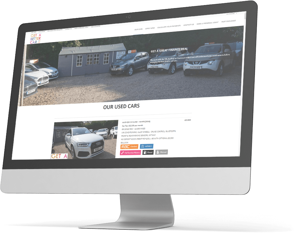 Getabettercar - Optimising their website to increase speed and performance