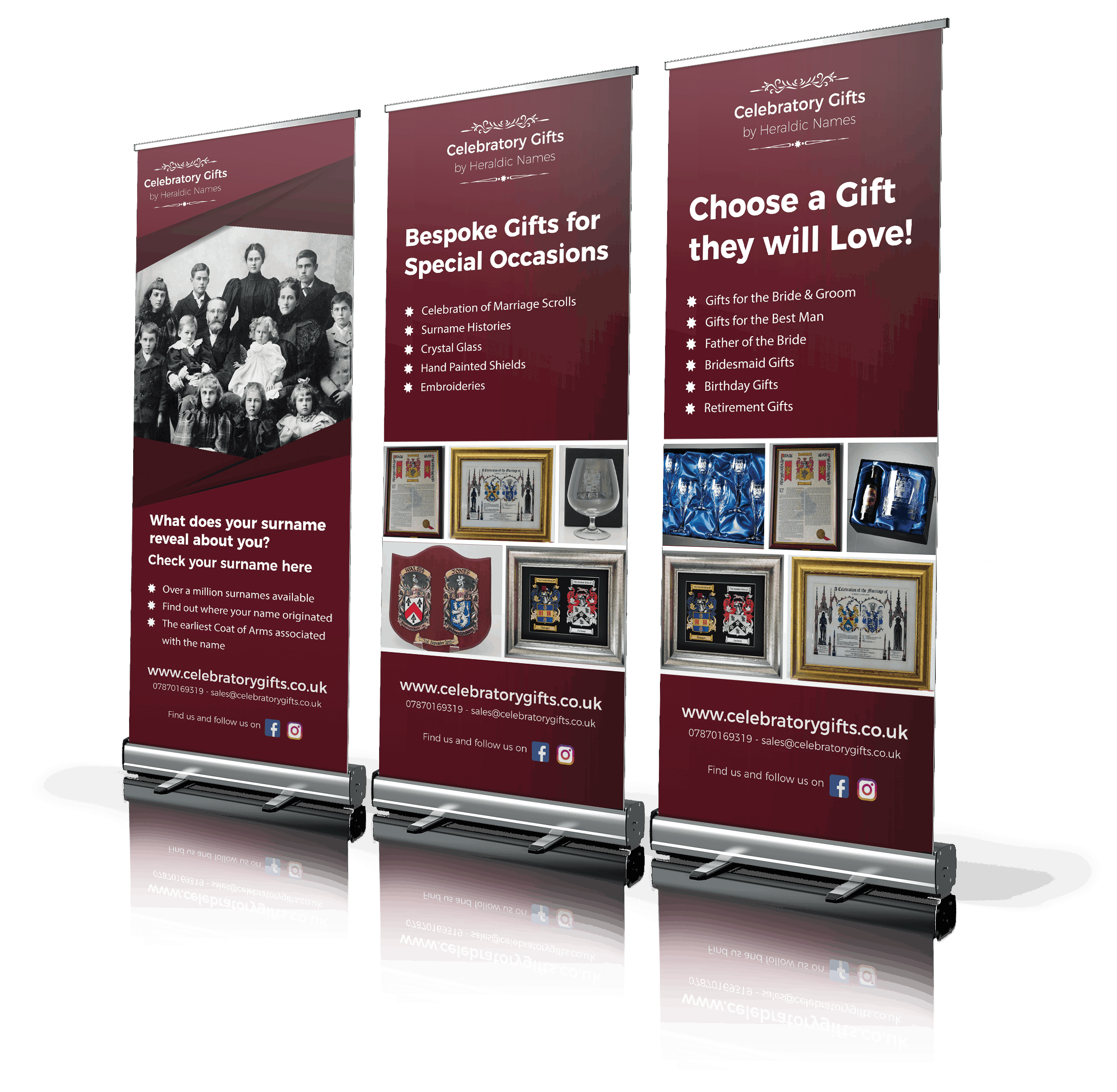 Celebratory Gifts - Promoting the business with a range of marketing materials